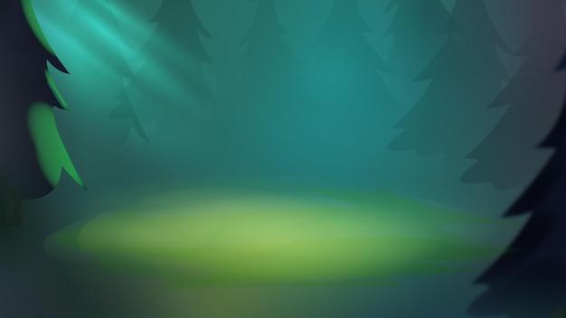 Paysage forestier de fond nature plein d'arbres et de buissons