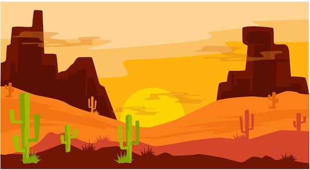 Paysage de grès du désert