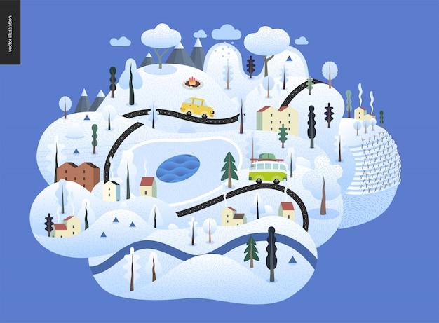 Paysage d'hiver magique