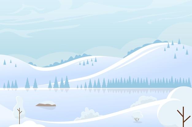 Paysage d'hiver de noël