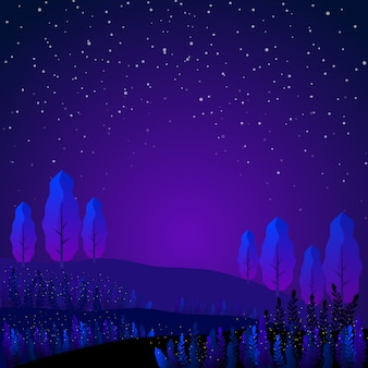 Paysage de jardin bleu fantastique