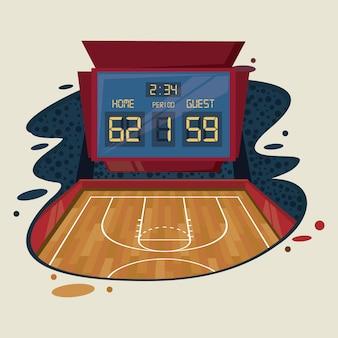 Paysage de jeu de sport de basket-ball