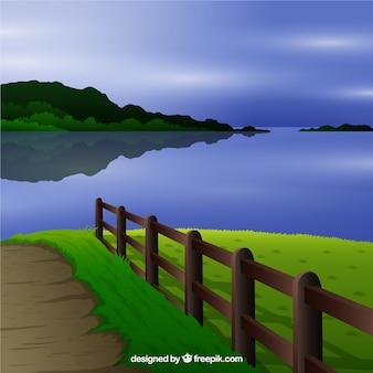 Paysage avec un lac
