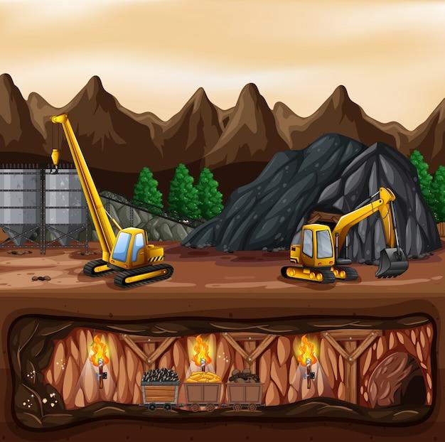 Un paysage de mine de charbon