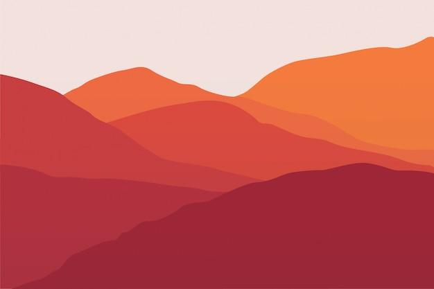 Paysage de montagne d'été