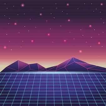 Paysage de montagne numérique