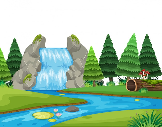 Un paysage de nature cascade
