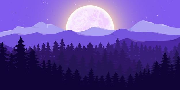 Paysage de la nature de la lune