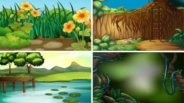Paysage de nature vide ou vide ou arrière-plan