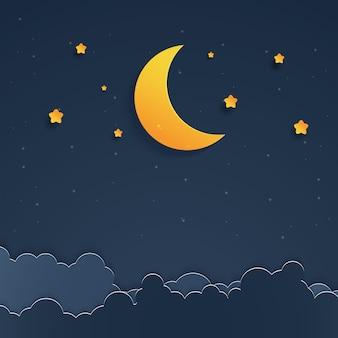 Paysage de nuit paysage