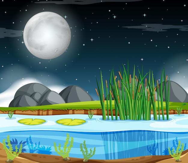 Un paysage de nuit