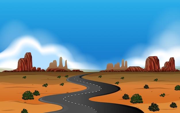 Un paysage d'ouest sauvage