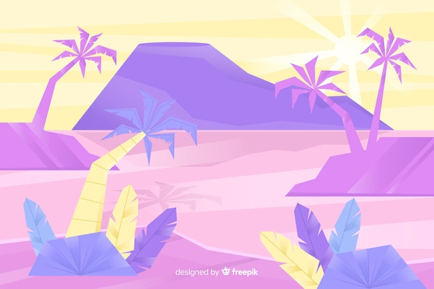Paysage de palmiers tropicaux