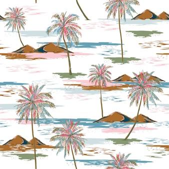 Paysage avec des palmiers