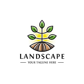 Paysage plant grow logo design