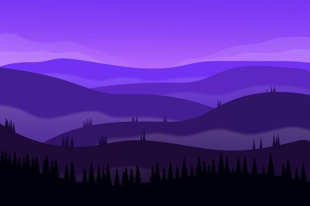 Paysage plat belle nature montagne