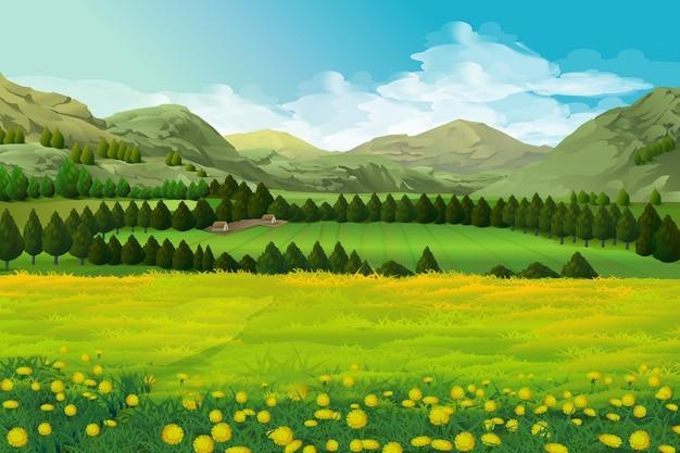 Paysage de printemps