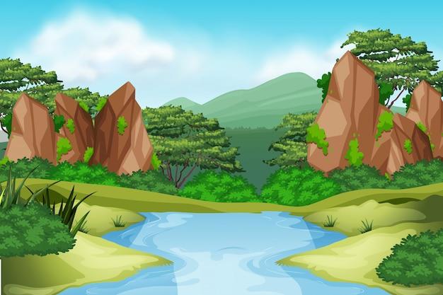 Paysage de rivière environnement