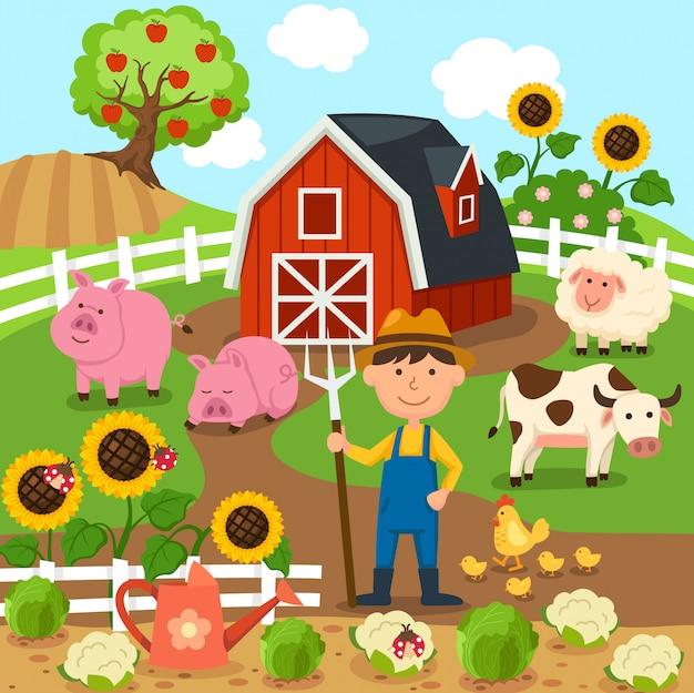 Paysage rural de production agricole