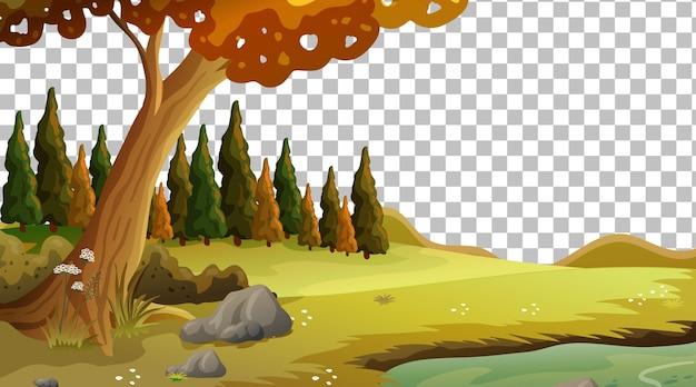 Paysage de scène de nature vierge sur transparent