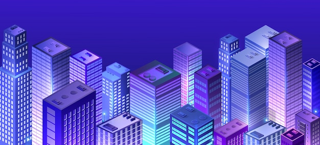Paysage urbain 3d ultraviolet