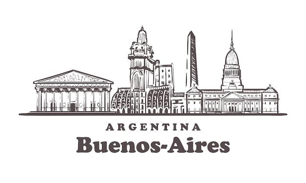 Paysage urbain de buenos-aires, argentine