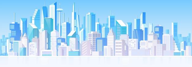 Paysage urbain avec différents bâtiments. maisons privées, chalet. de