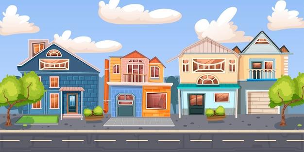Paysage urbain. différents bâtiments.