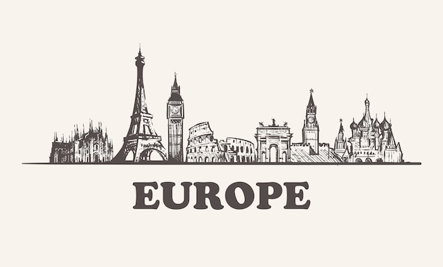 Paysage urbain de l'europe