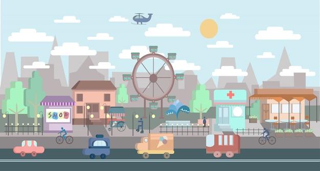 Paysage urbain. illustration de la ville.