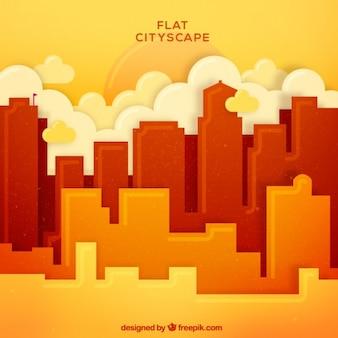 Paysage urbain en jaune conception de tons