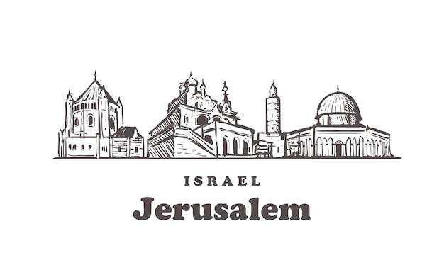 Paysage urbain de jérusalem, israël
