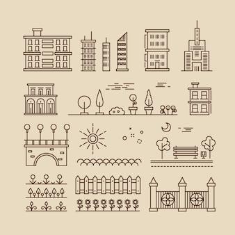 Paysage urbain linéaire