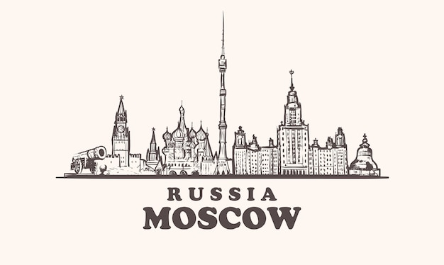 Paysage urbain de moscou, russie