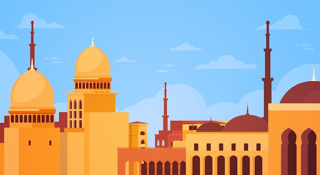 Paysage urbain musulman nabawi mosque building religion
