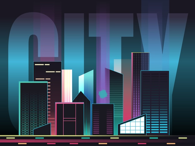 Paysage urbain avec typographie