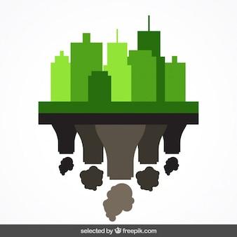 Paysage urbain et l'usine