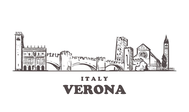 Paysage urbain de vérone, italie