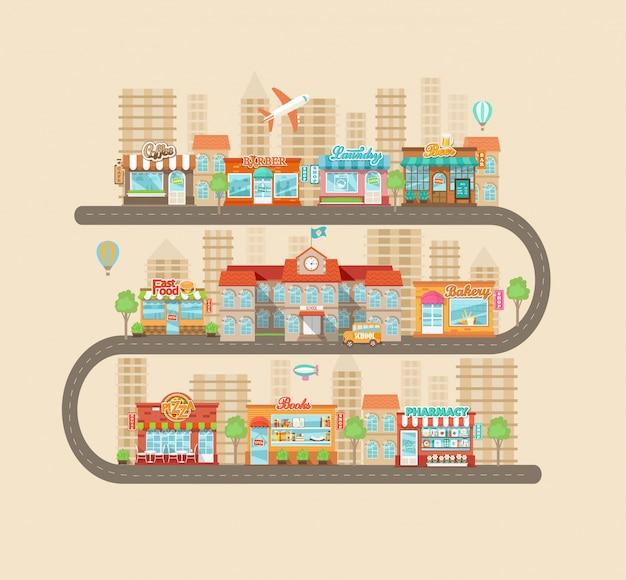Paysage urbain et vie citadine.