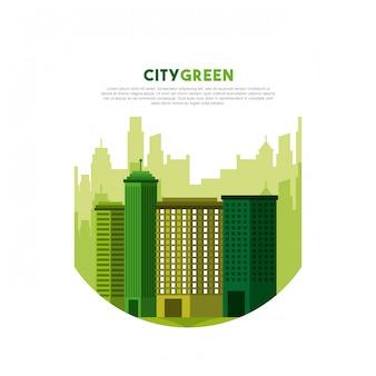 Paysage urbain ville écologie verte