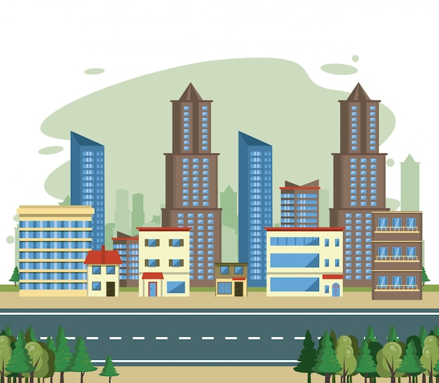 Paysage urbain, vue sur la ville