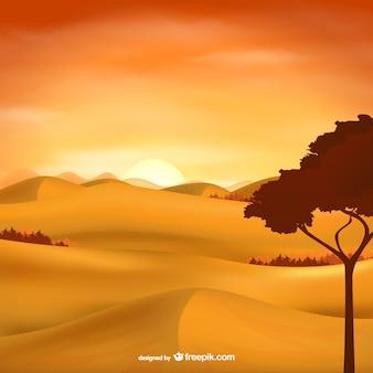 Paysage vecteur de désert