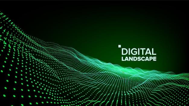 Paysage vert de données