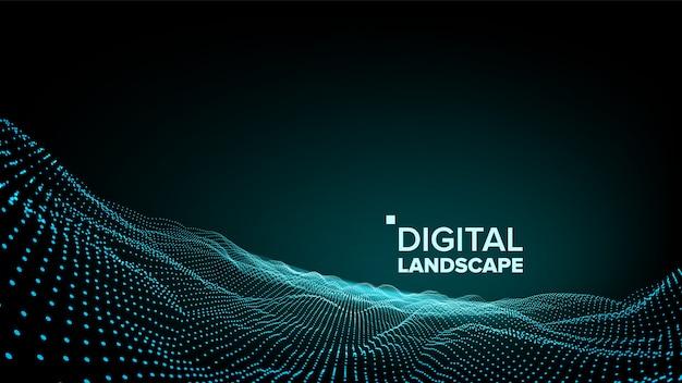 Paysage vert numérique