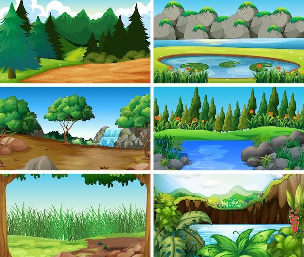 Paysage vide ou vide, scènes de nature ou arrière-plan