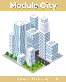 Paysage de ville isométrique