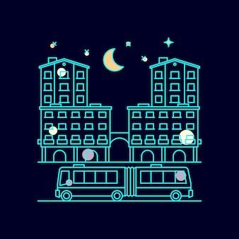 Paysage de ville de nuit