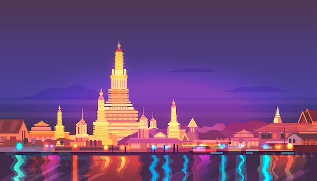 Paysage de la ville de thaïlande.