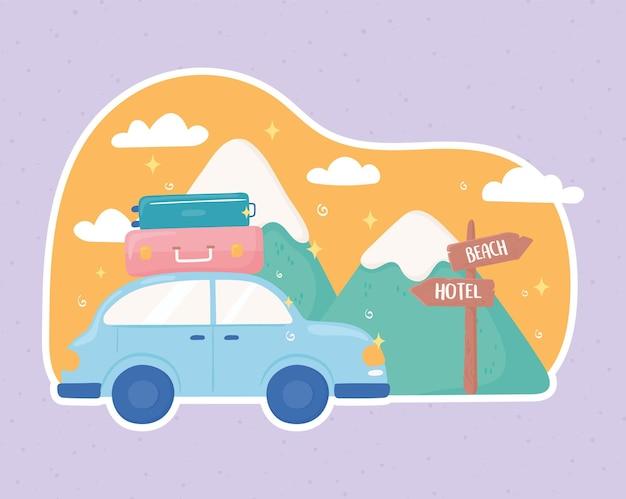 Paysage de voyage en voiture