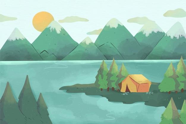 Paysage de la zone de camping